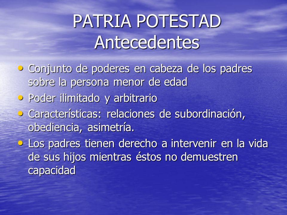RESPONSABILIDAD PARENTAL (Art.3, 5, 12 y 18 de la CDN) Igualdad de Derechos entre padres e hijos.