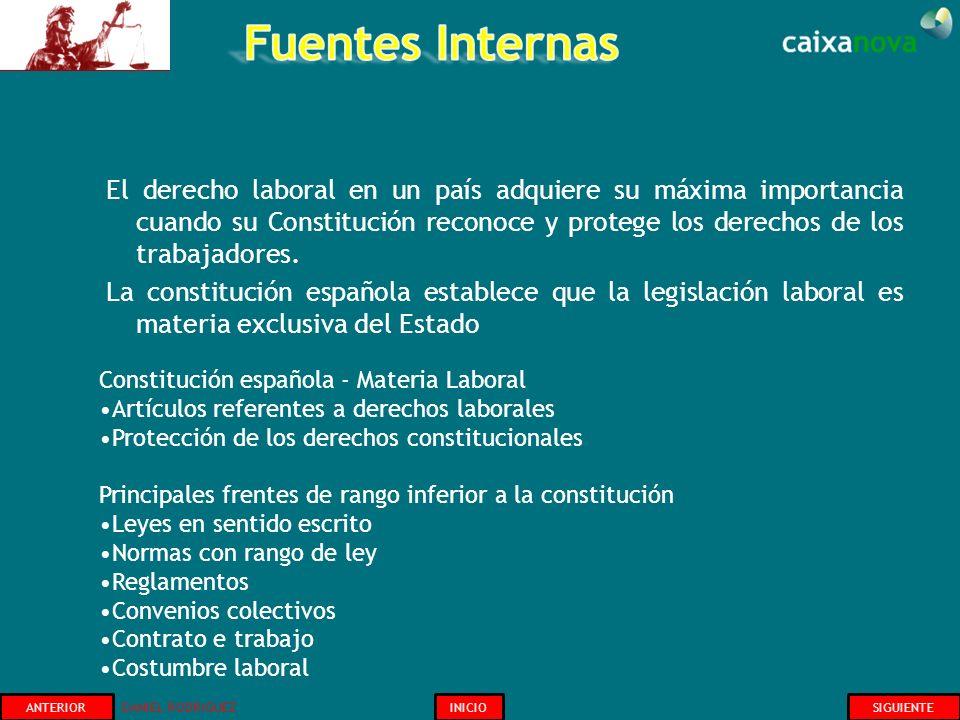 El derecho laboral en un país adquiere su máxima importancia cuando su Constitución reconoce y protege los derechos de los trabajadores. La constituci