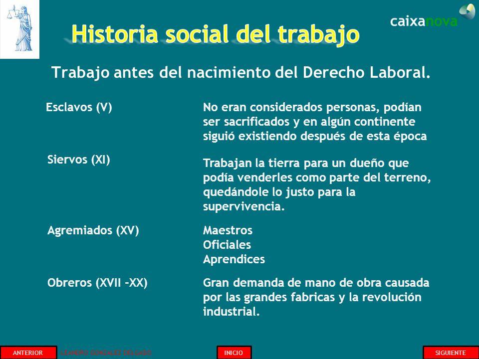 Trabajo antes del nacimiento del Derecho Laboral. INICIOSIGUIENTEANTERIOR Esclavos (V) No eran considerados personas, podían ser sacrificados y en alg