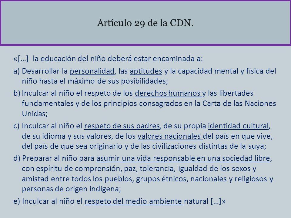 Artículo 29 de la CDN.