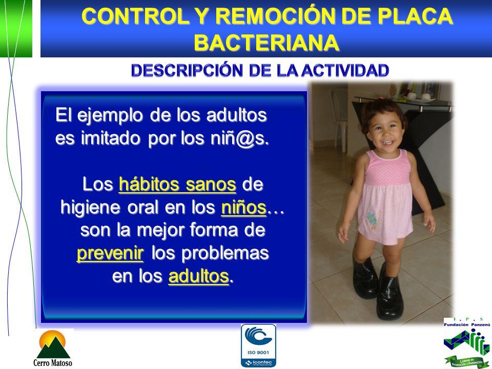 El ejemplo de los adultos es imitado por los niñ@s. Los hábitos sanos de higiene oral en los niños… son la mejor forma de prevenir los problemas en lo