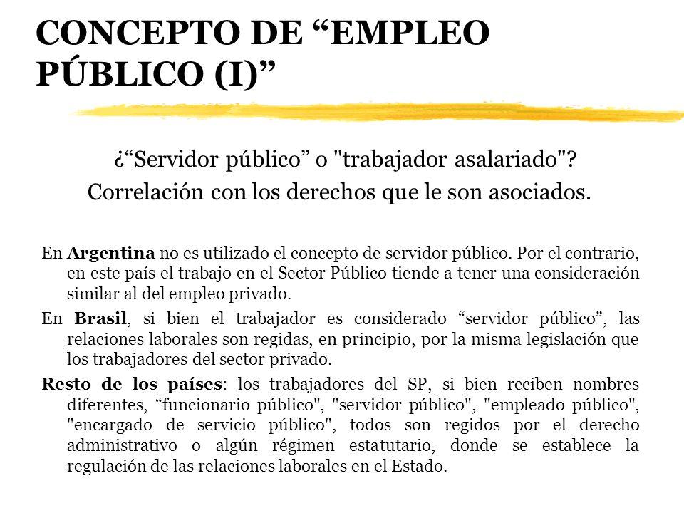 CONCEPTO DE EMPLEO PÚBLICO (I) ¿Servidor público o