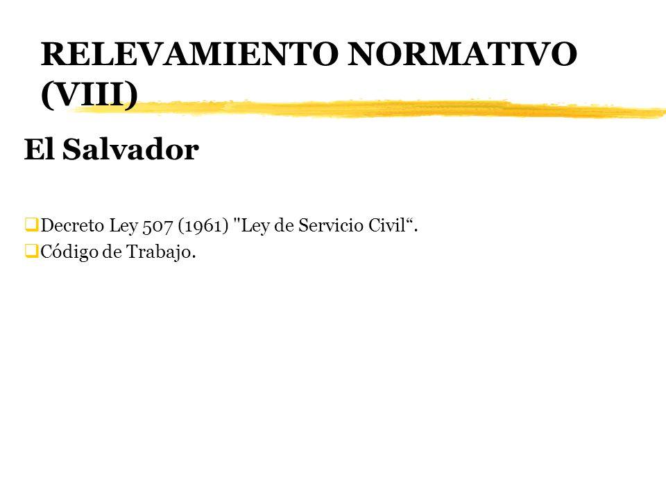 RELEVAMIENTO NORMATIVO (VIII) El Salvador Decreto Ley 507 (1961)