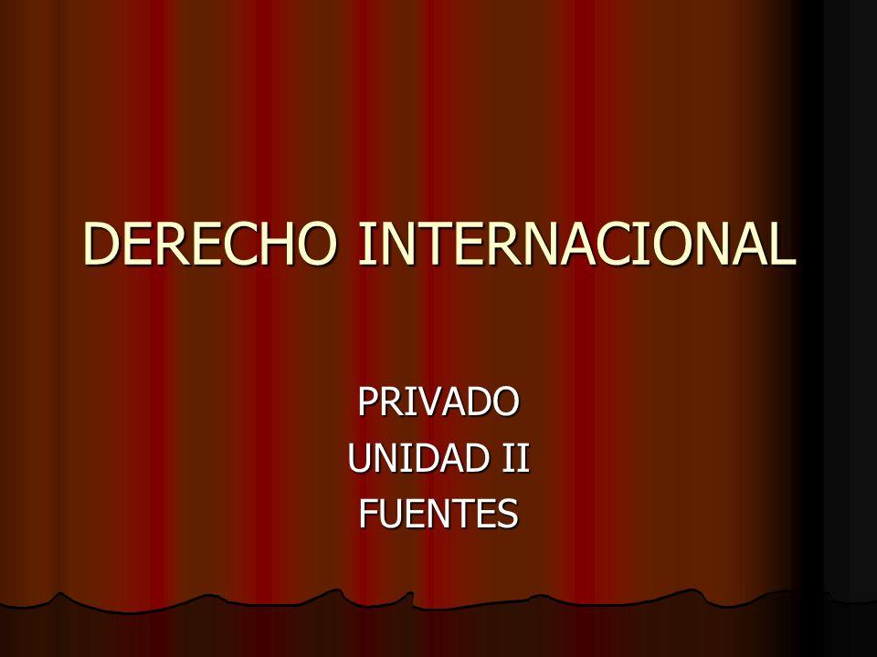 DERECHO INTERNACIONAL PRIVADO UNIDAD II FUENTES