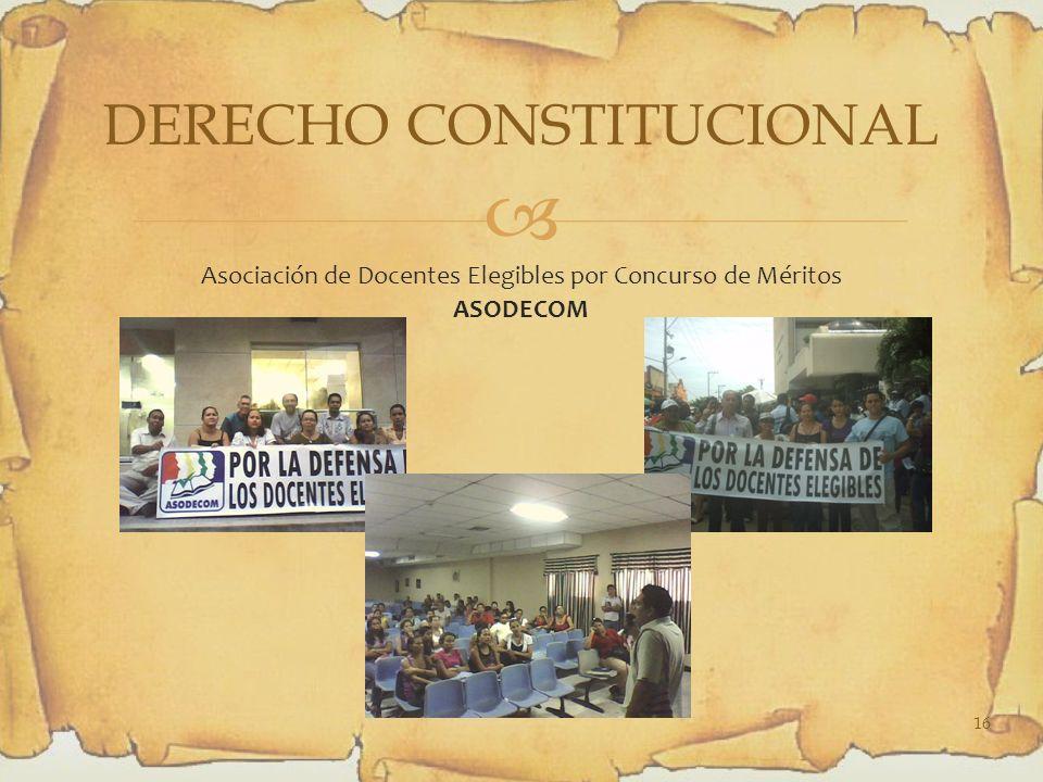 Asociación de Docentes Elegibles por Concurso de Méritos ASODECOM DERECHO CONSTITUCIONAL 16