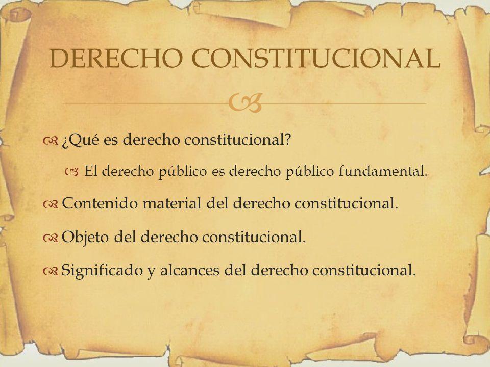 ¿Qué es derecho constitucional.El derecho público es derecho público fundamental.