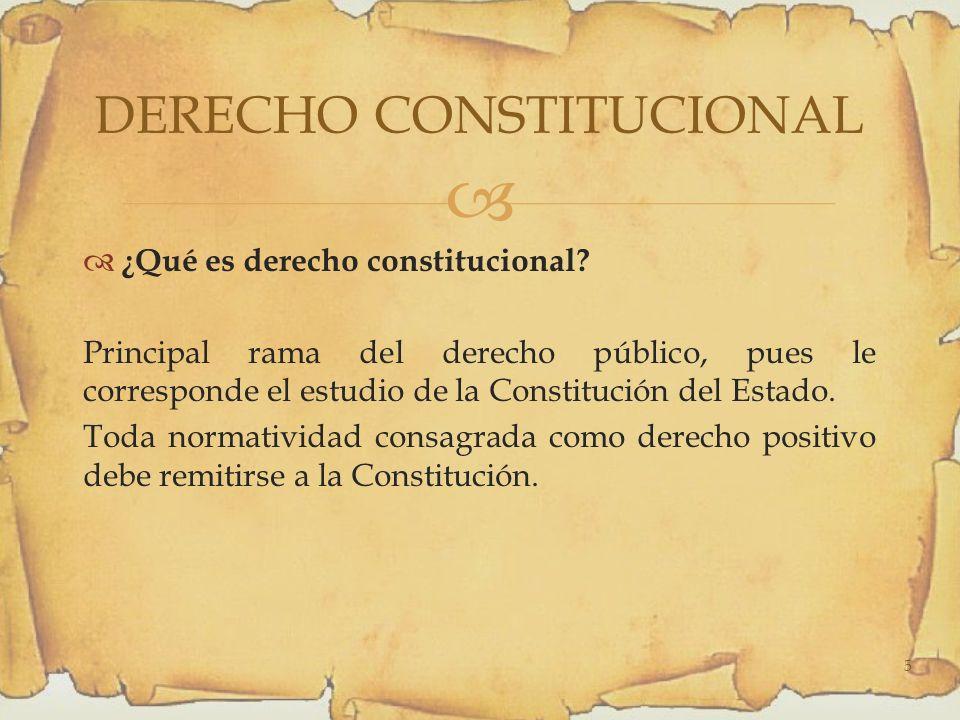 ¿Qué es derecho constitucional.
