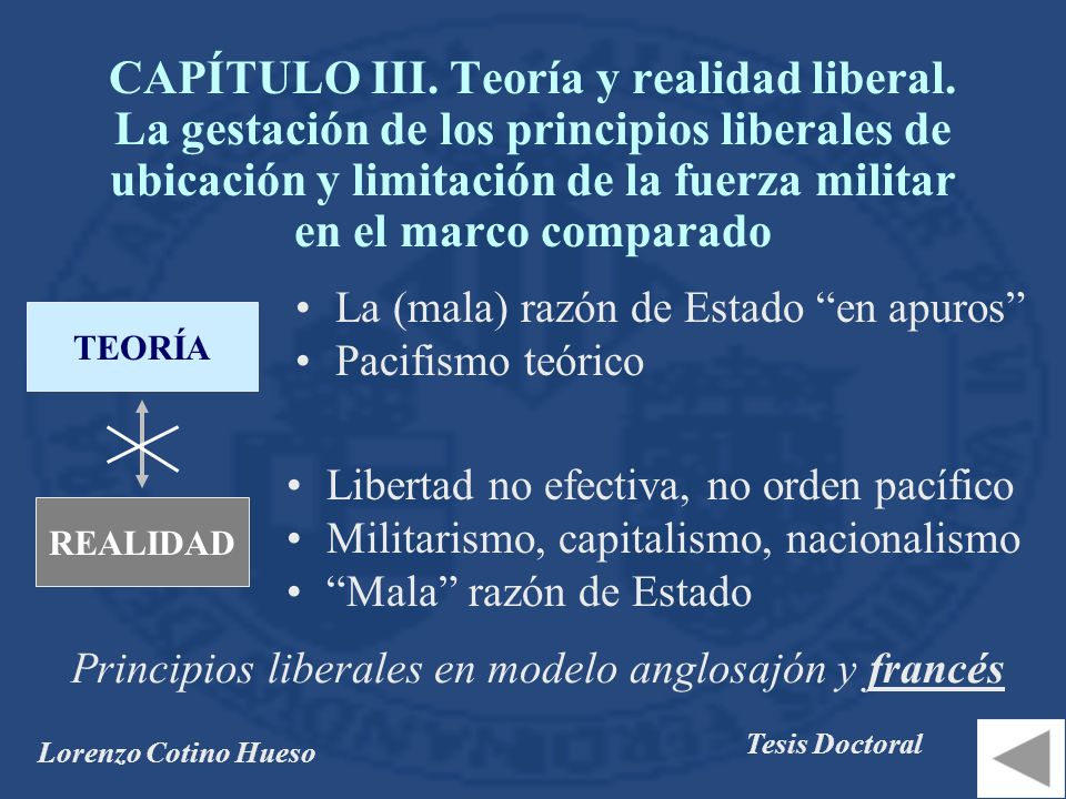 Lorenzo Cotino Hueso Tesis Doctoral CAPÍTULO III.Teoría y realidad liberal.