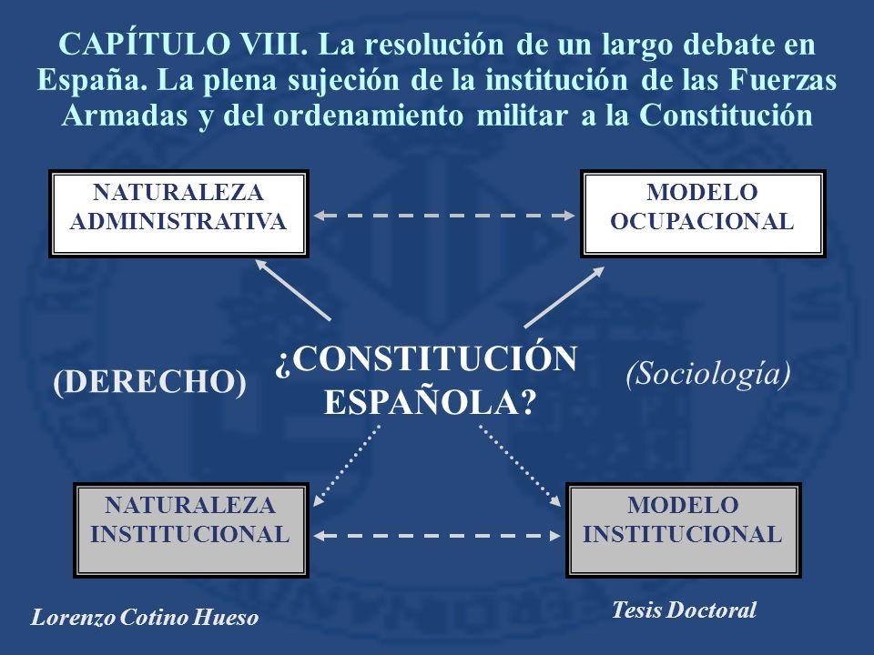 Lorenzo Cotino Hueso Tesis Doctoral MODELO OCUPACIONAL MODELO INSTITUCIONAL ¿CONSTITUCIÓN ESPAÑOLA.