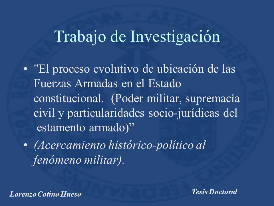 Lorenzo Cotino Hueso Tesis Doctoral Libro segundo El modelo constitucional de Fuerzas Armadas