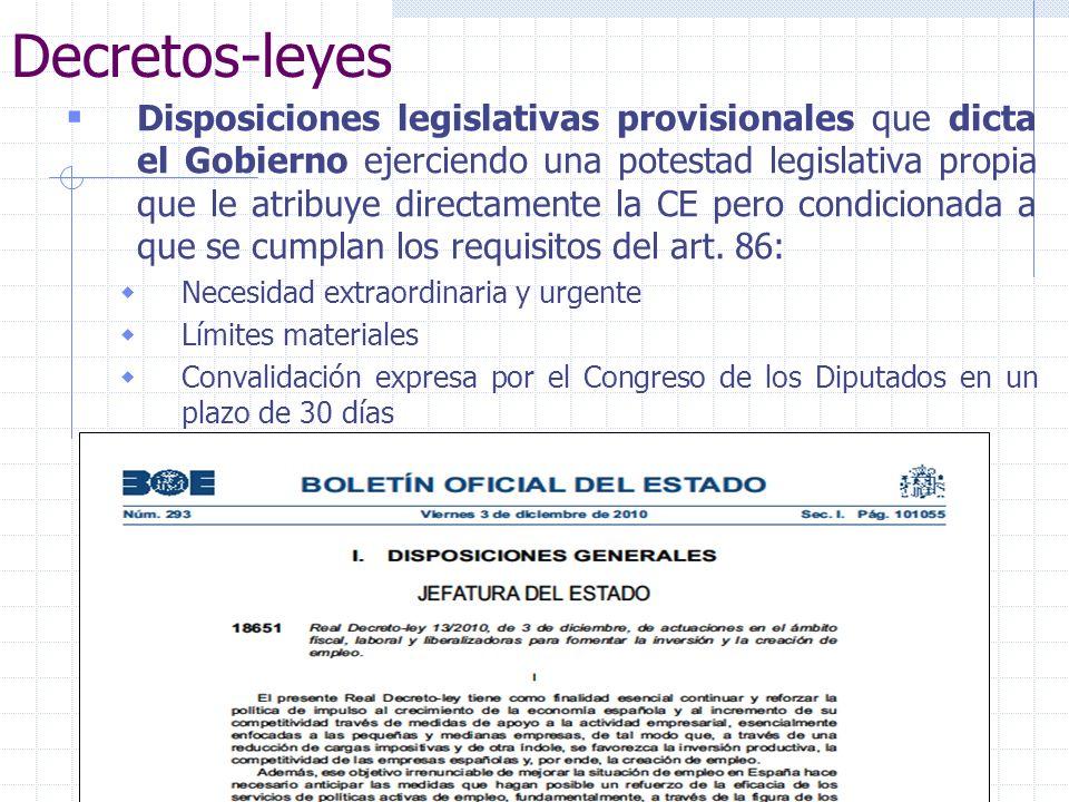 Göran Rollnert Liern25 Decretos-leyes Disposiciones legislativas provisionales que dicta el Gobierno ejerciendo una potestad legislativa propia que le