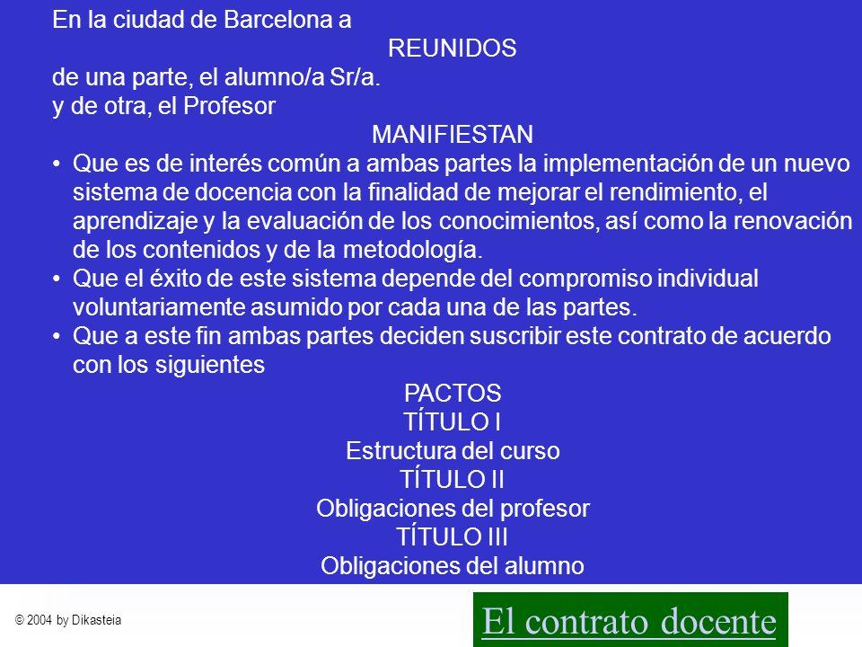 © 2004 by Dikasteia Materias implicadas Derecho Mercantil I4,5T1Mercantil Derecho Mercantil II7,5T1Mercantil Derecho Mercantil III6T1Mercantil Derecho