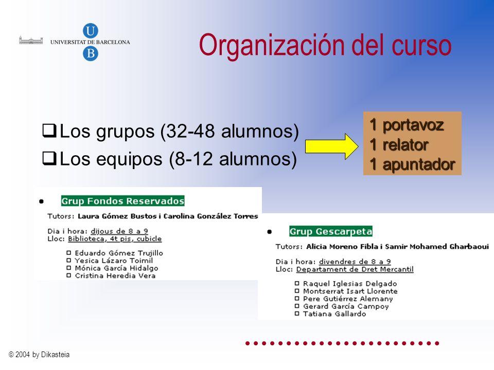 © 2004 by Dikasteia La gestión docente En la ciudad de Barcelona a REUNIDOS de una parte, el alumno/a Sr/a. y de otra, el Profesor MANIFIESTAN Que es