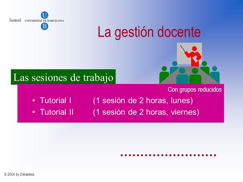 © 2004 by Dikasteia Organización del curso Los grupos (32-48 alumnos) Los equipos (8-12 alumnos) 1 portavoz 1 relator 1 apuntador