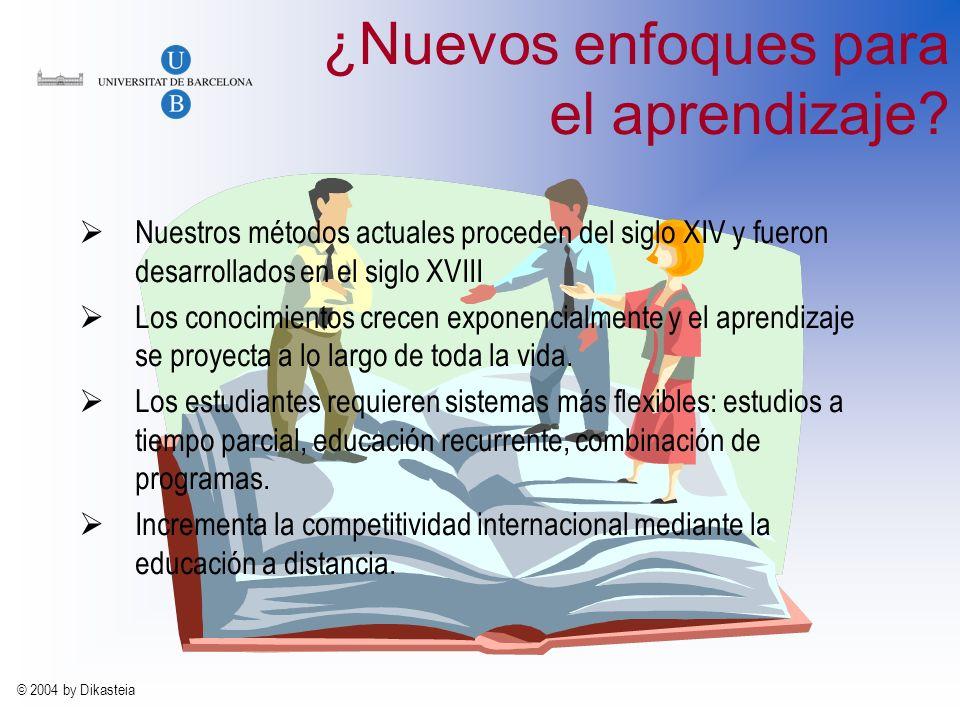 © 2004 by Dikasteia ¿Nuevos enfoques para el aprendizaje.