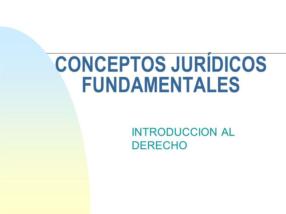 CONCEPTOS JURÍDICOS FUNDAMENTALES INTRODUCCION AL DERECHO