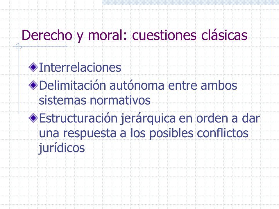 Perspectiva histórica La distinción correcta entre derecho y moral es relativamente reciente.