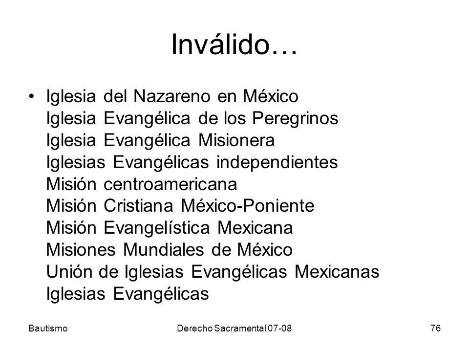 Inválido… Iglesia del Nazareno en México Iglesia Evangélica de los Peregrinos Iglesia Evangélica Misionera Iglesias Evangélicas independientes Misión