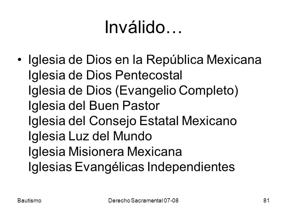 Inválido… Iglesia de Dios en la República Mexicana Iglesia de Dios Pentecostal Iglesia de Dios (Evangelio Completo) Iglesia del Buen Pastor Iglesia de