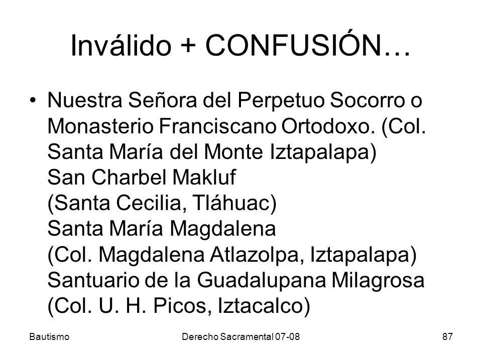 Inválido + CONFUSIÓN… Nuestra Señora del Perpetuo Socorro o Monasterio Franciscano Ortodoxo. (Col. Santa María del Monte Iztapalapa) San Charbel Maklu