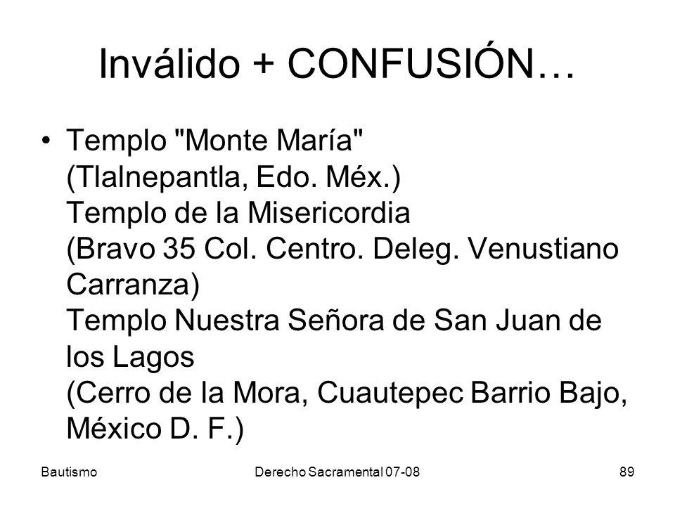 Inválido + CONFUSIÓN… Templo