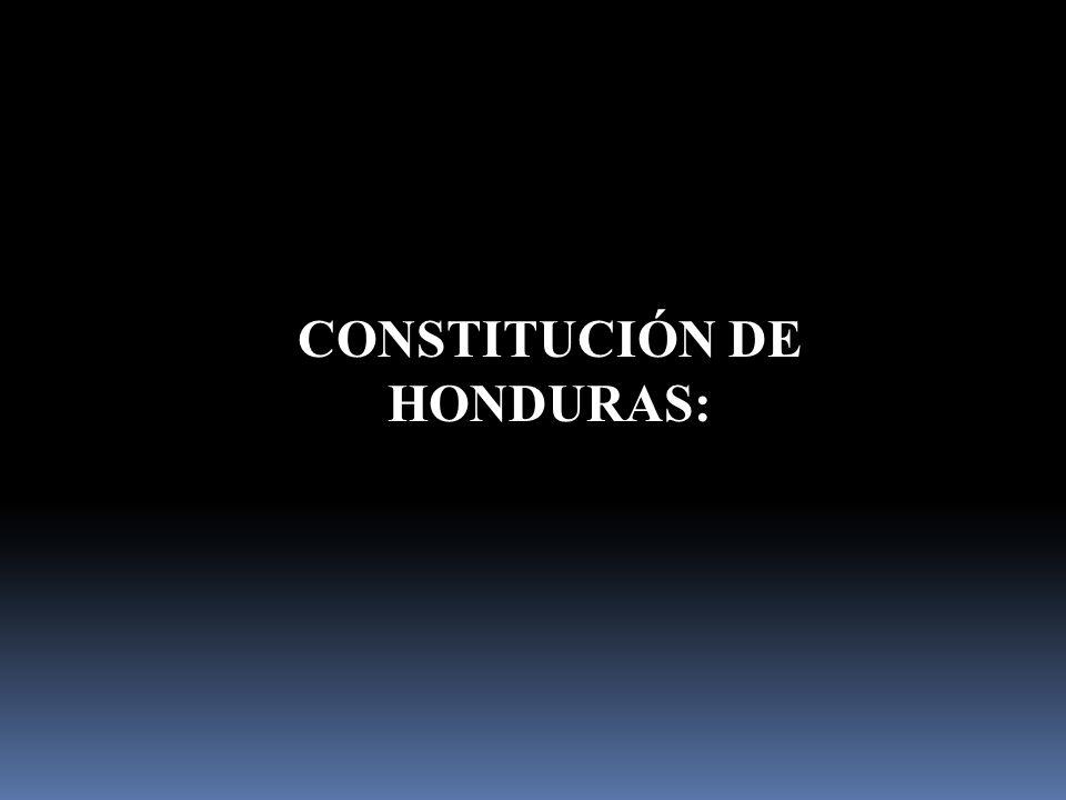 CONSTITUCIÓN DE HONDURAS: