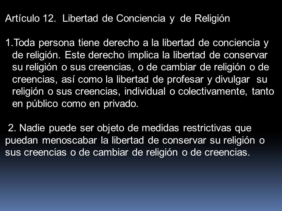 Artículo 12.