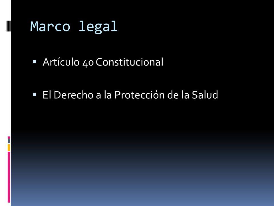 Marco legal Artículo 40 Constitucional El Derecho a la Protección de la Salud