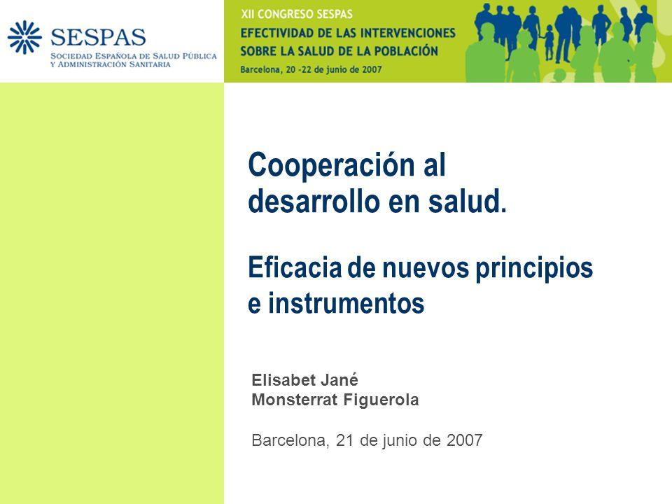 Cooperación al desarrollo en salud.