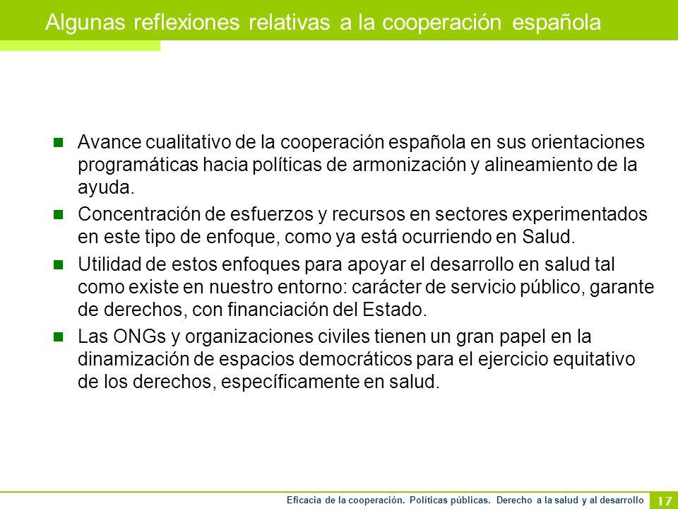 Eficacia de la cooperación. Políticas públicas.