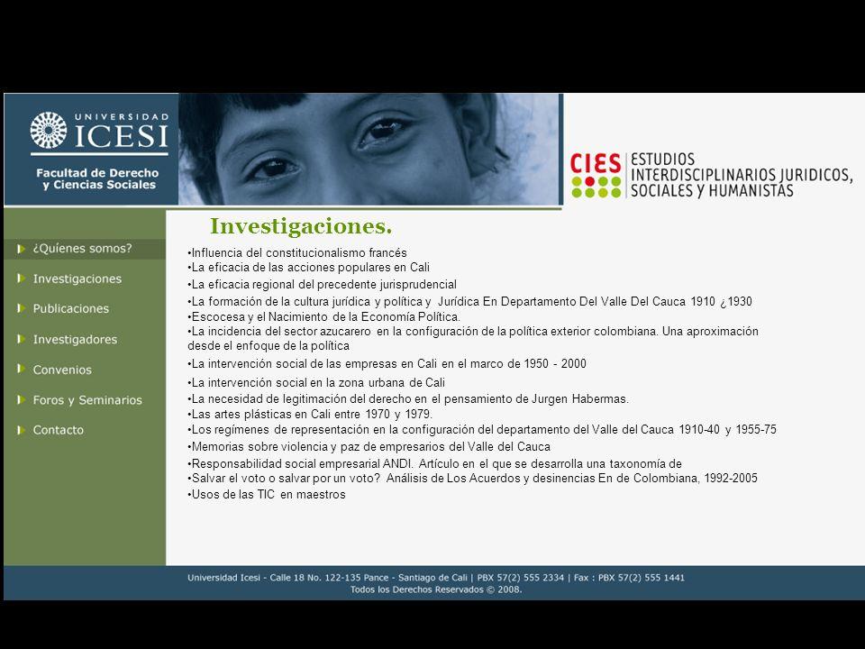 Investigaciones 2008.