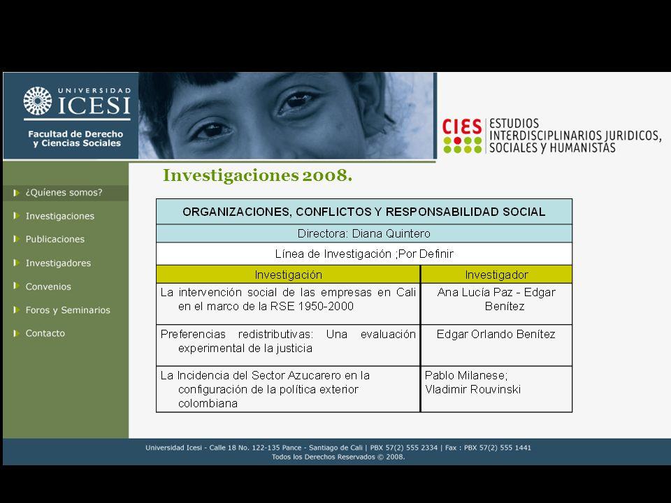 Investigaciones 2007-2006.