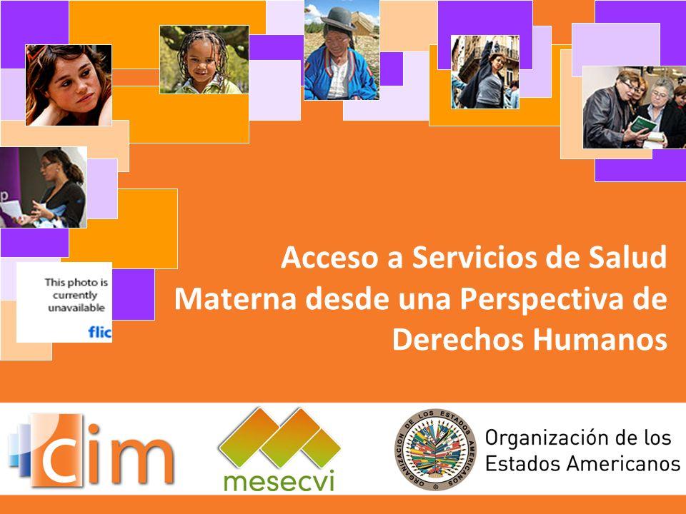 Acceso a Servicios de Salud Materna desde una Perspectiva de Derechos Humanos
