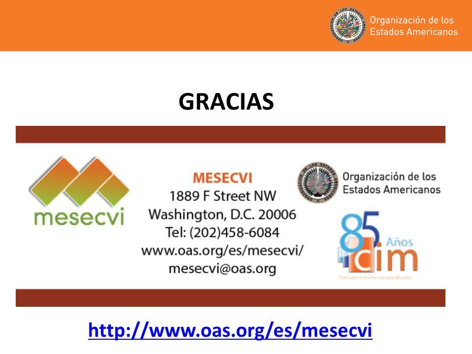 GRACIAS http://www.oas.org/es/mesecvi