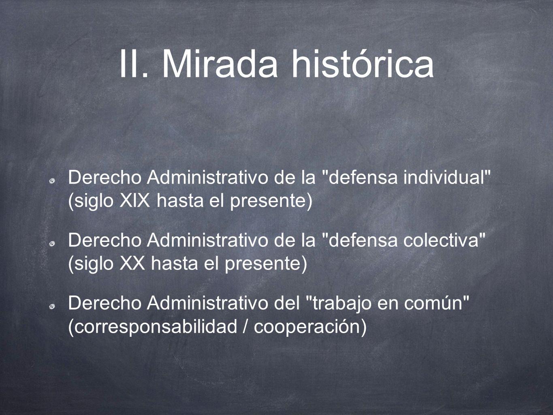 II. Mirada histórica Derecho Administrativo de la