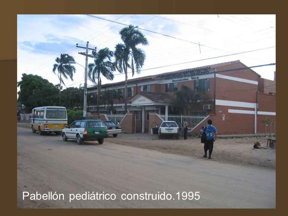 Pabellón pediátrico construido.1995
