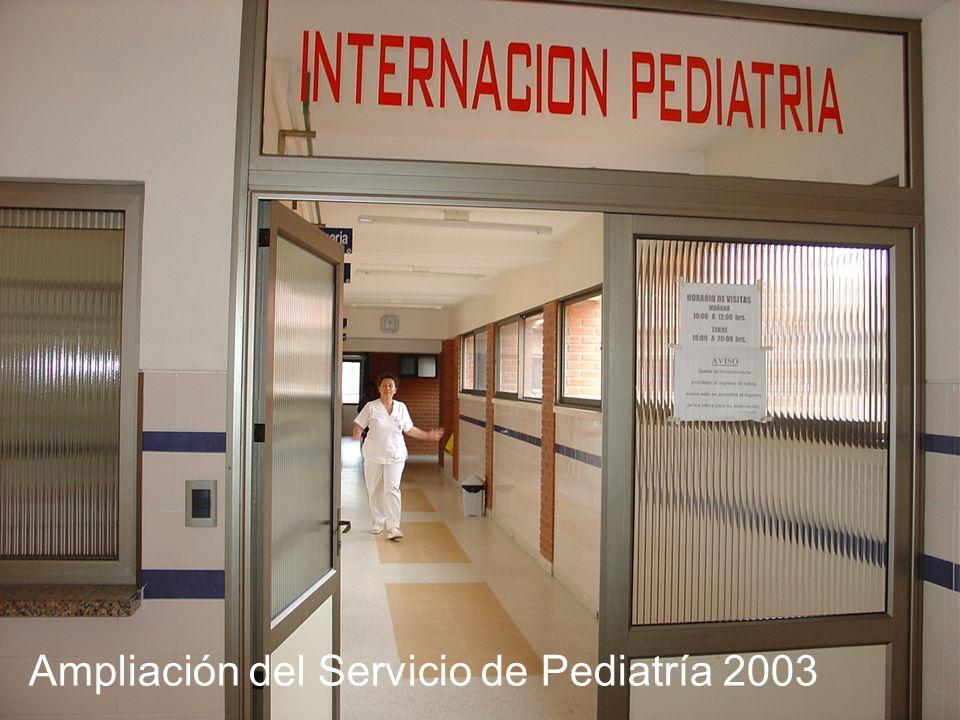 Ampliación del Servicio de Pediatría 2003