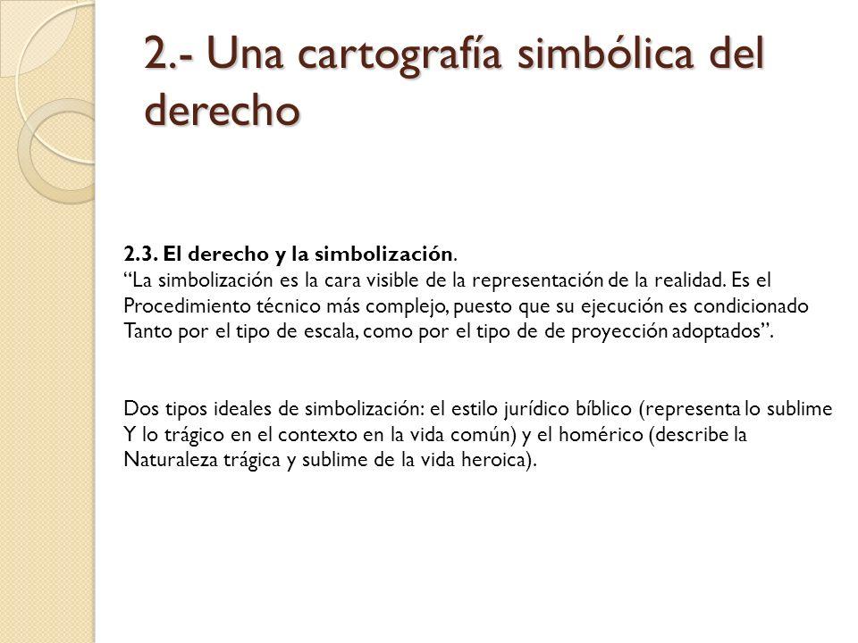 2.- Una cartografía simbólica del derecho 2.3. El derecho y la simbolización. La simbolización es la cara visible de la representación de la realidad.