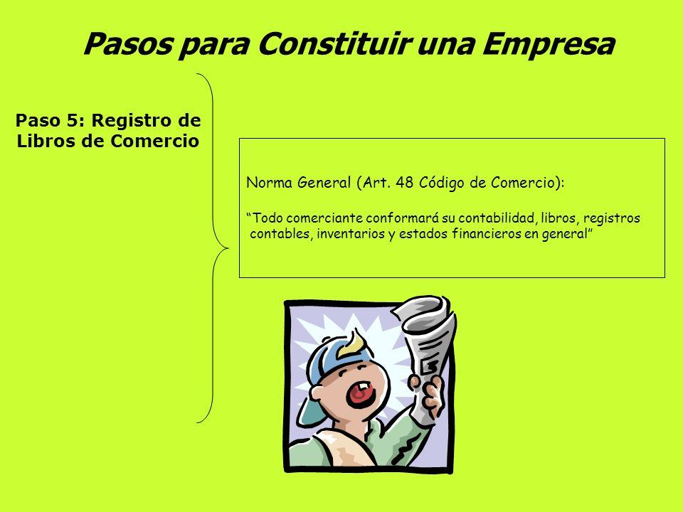 Pasos para Constituir una Empresa Paso 4: Registro Mercantil Procedimientos de Registro Persona Jurídica: Formulario Registro Único Empresarial y Anex