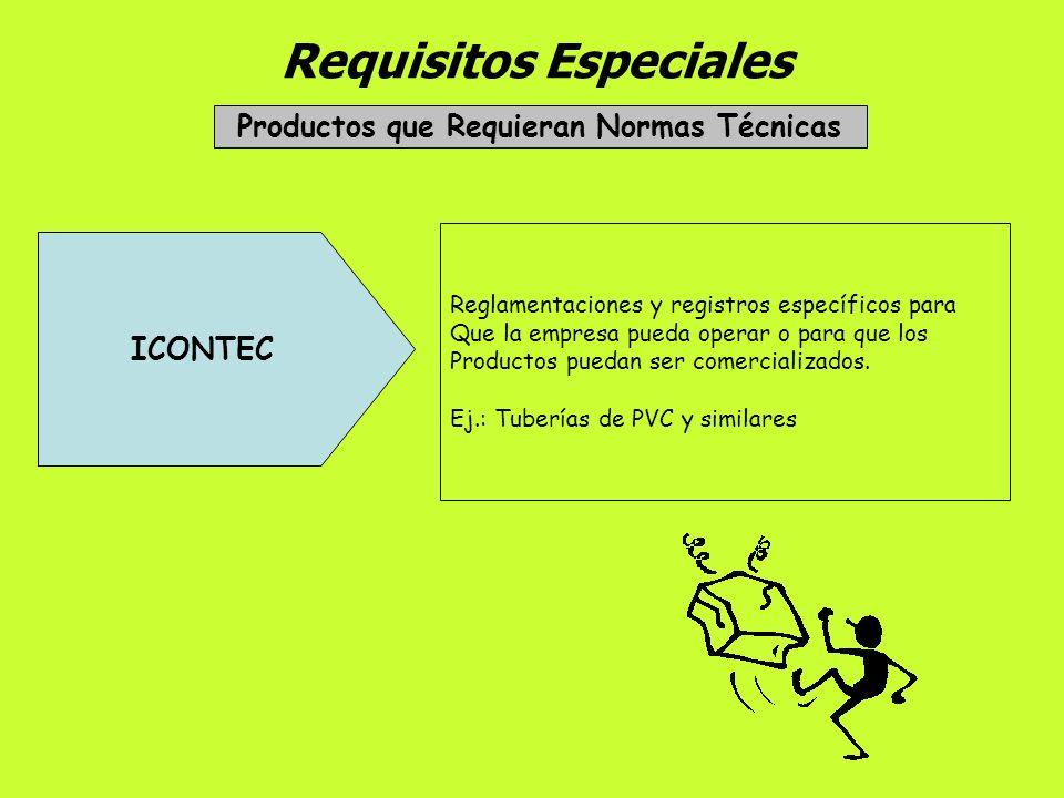 Requisitos Especiales Empresas Exportadoras Ministerio de Comercio, Industria Y Turismo Registro Nacional de Exportadores => RUT Registro de Producció