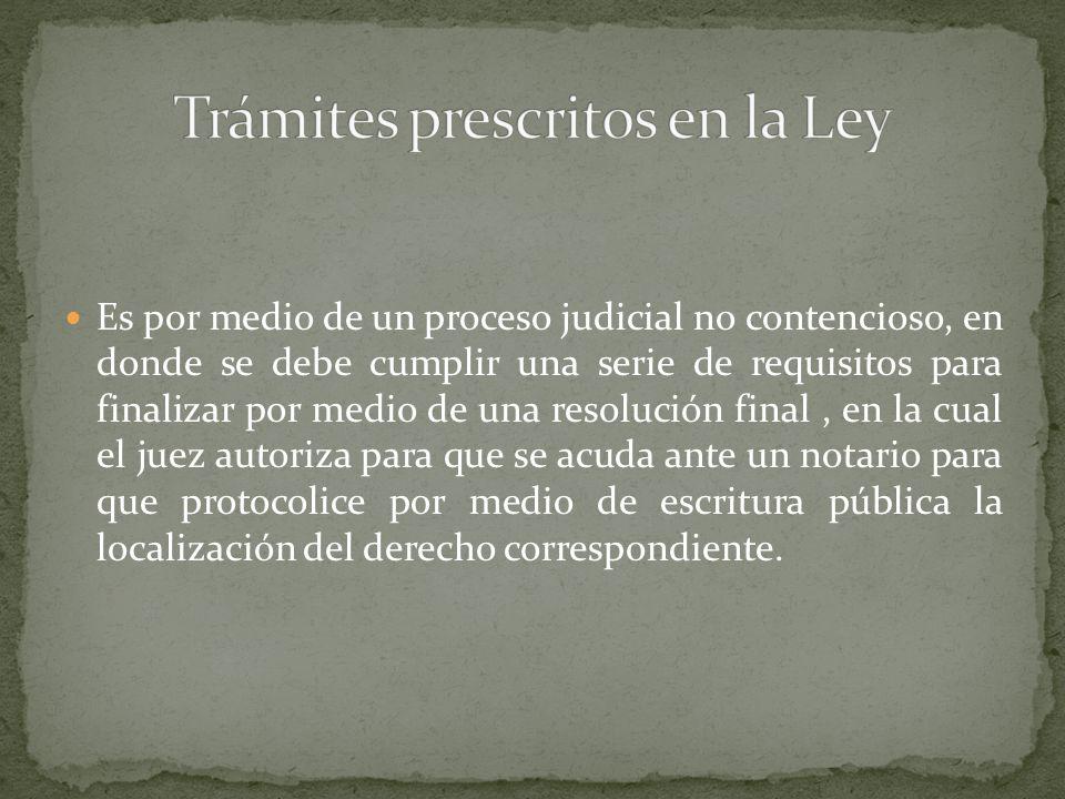 Se regula dentro de lo establecido en el Código Procesal Civil correspondiente a la Actividad Judicial NO Contenciosa.