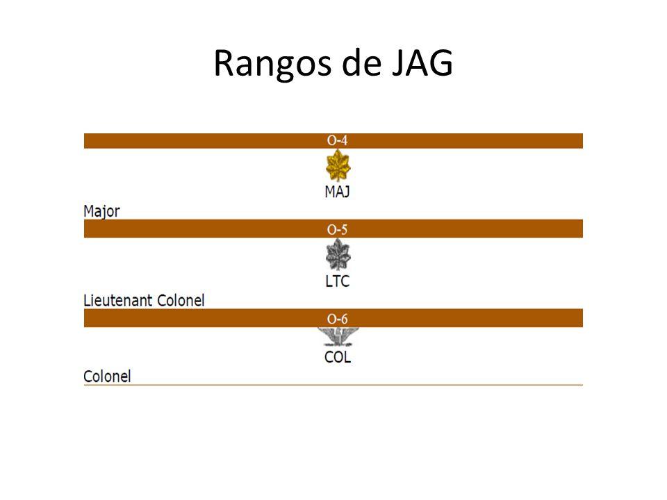 Rangos de JAG