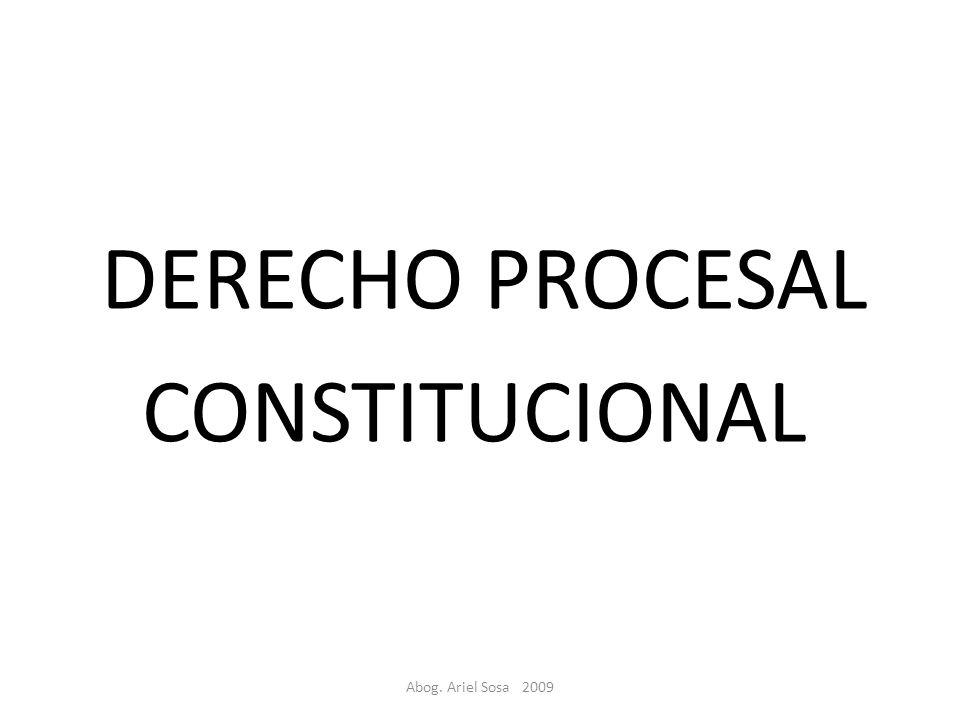 Abog. Ariel Sosa 2009 DERECHO PROCESAL CONSTITUCIONAL