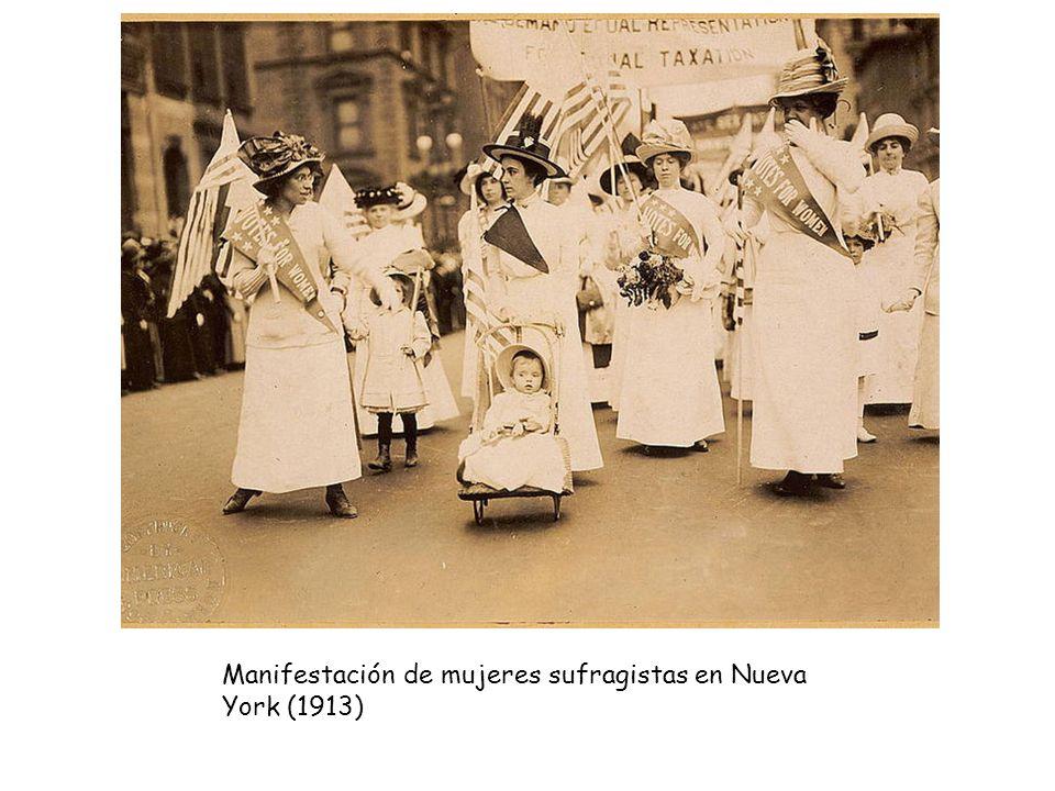 Manifestación de mujeres sufragistas en Nueva York (1913)