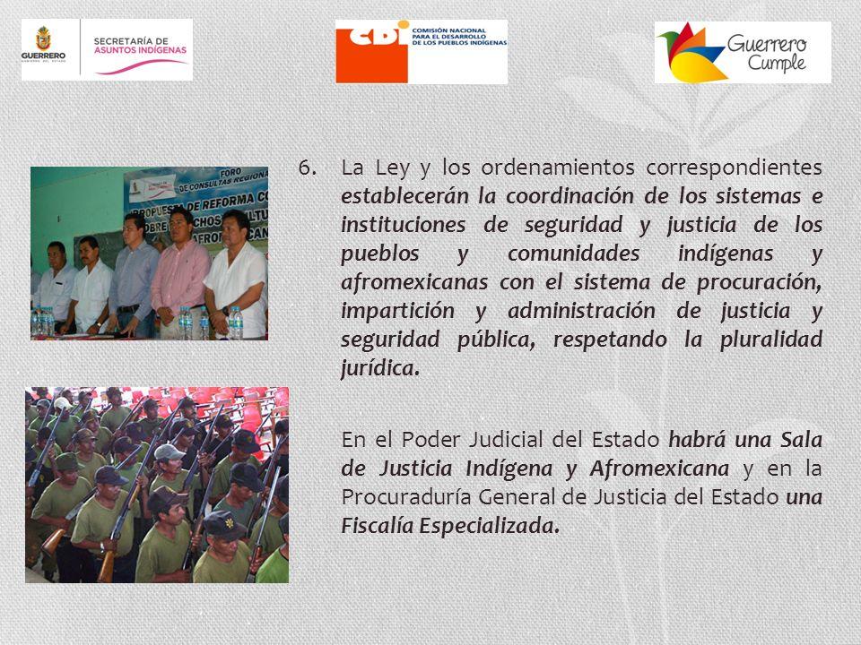 5. Se garantiza la representación política de los pueblos y comunidades indígenas y afromexicanas de Guerrero, reafirmando lo dispuesto en los artícul