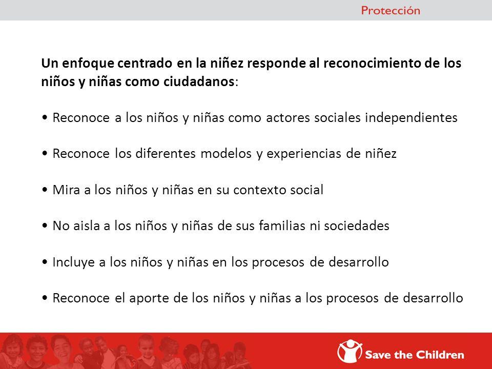 El enfoque de derechos de la Niñez, se fundamenta en el paradigma de la protección integral establecido por la Convención de las Naciones Unidas sobre los Derechos del Niño de 1.989.