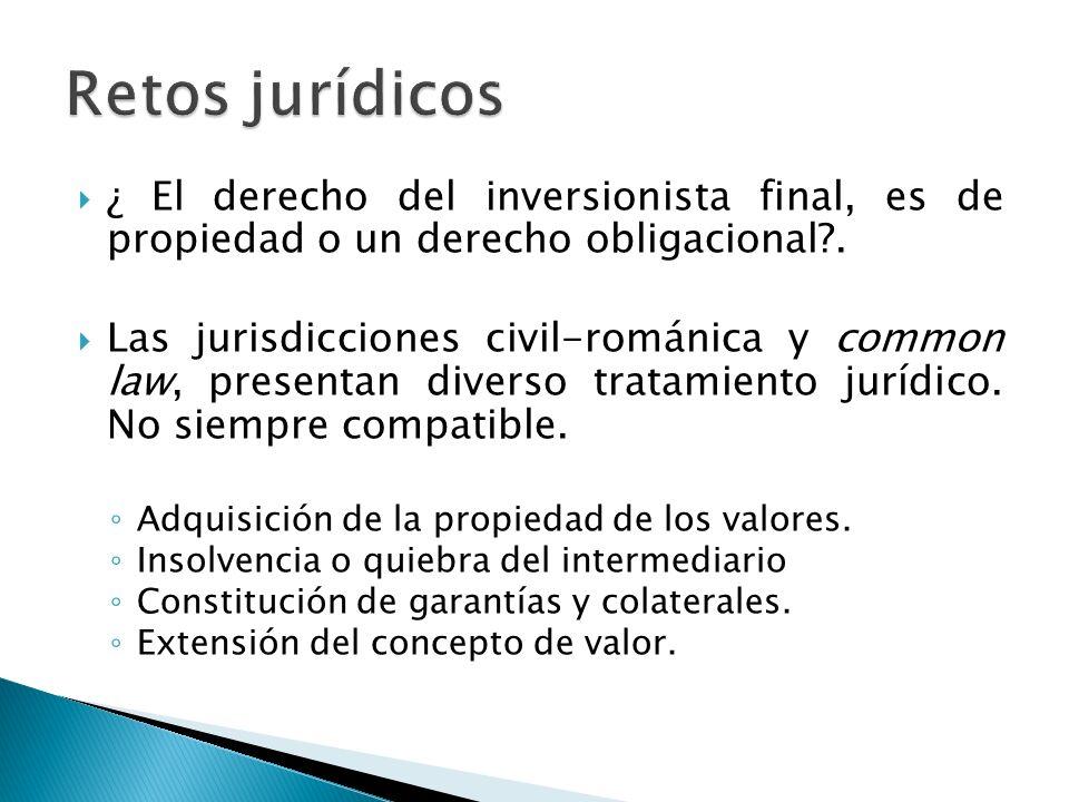 Unificar el tratamiento jurídico de los cambios descritos.