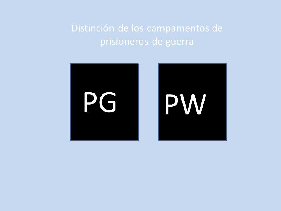 PG PW Distinción de los campamentos de prisioneros de guerra