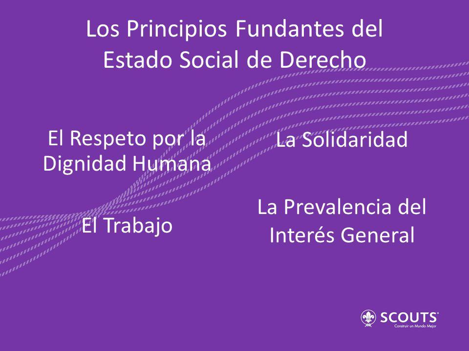 Los Principios Fundantes del Estado Social de Derecho El Respeto por la Dignidad Humana El Trabajo La Solidaridad La Prevalencia del Interés General
