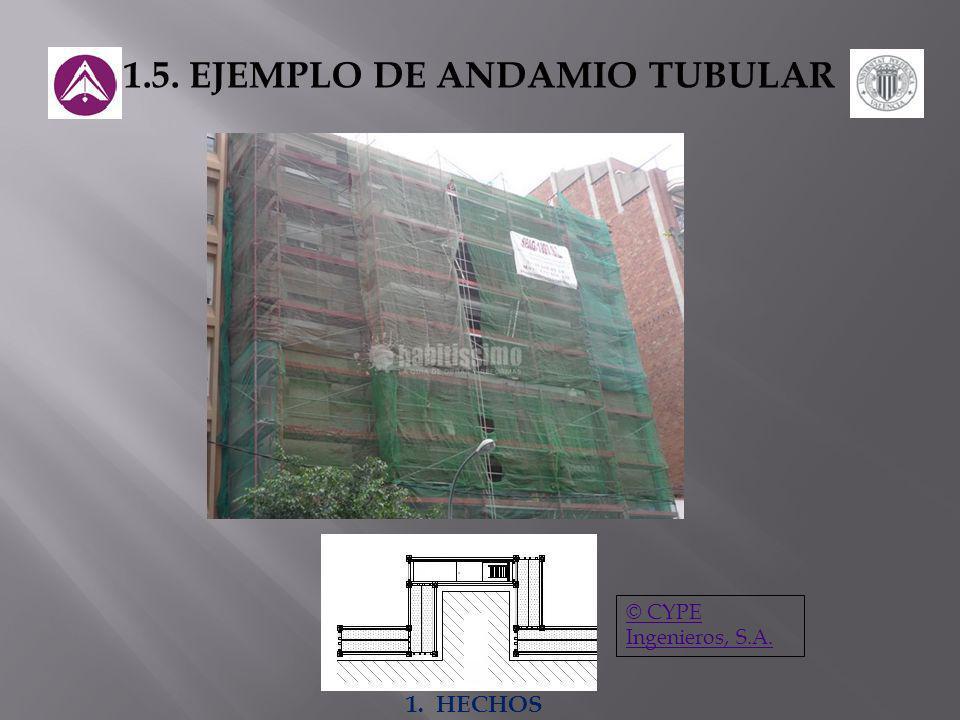 1.5. EJEMPLO DE ANDAMIO TUBULAR © CYPE Ingenieros, S.A. 1. HECHOS